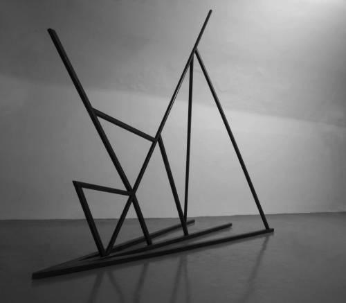Stahlskulptur 2014, 3,3x3,5x1,5 Foto by Lukas Matha